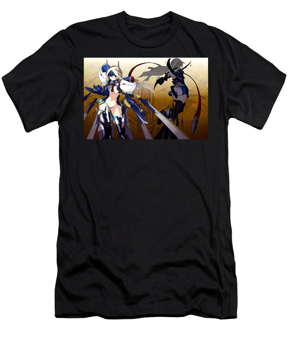 00 Blazblue Men's T-Shirt (Athletic Fit) featuring the digital art 20006 Blazblue by Mery Moon