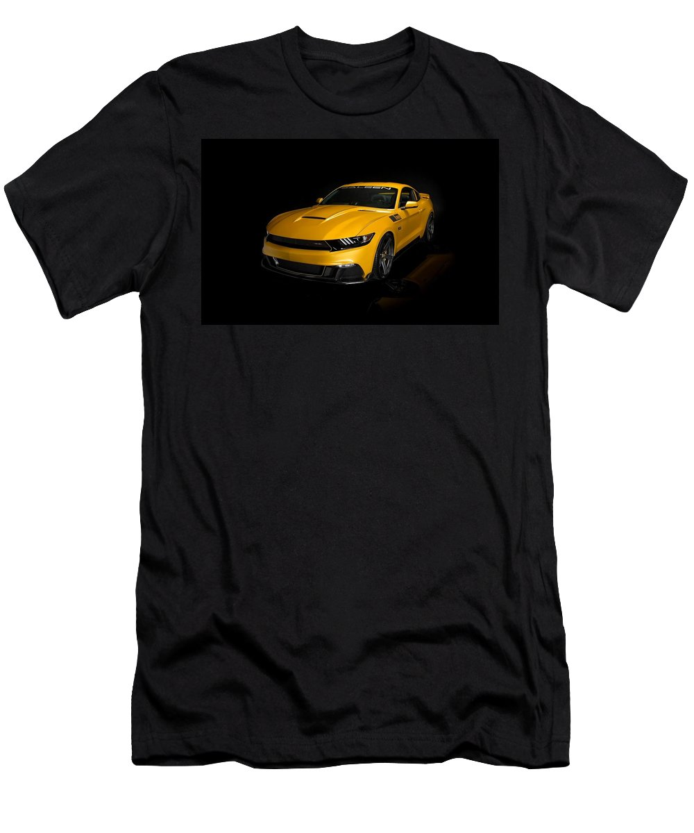 Saleen Mustang S02 Black Label Men's T-Shirt (Athletic Fit) featuring the digital art 2015 Saleen Mustang S302 Black Label by Rose Lynn