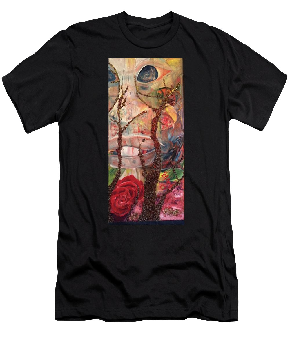 Landscape T-Shirt featuring the painting 2016 Anticipation by Peggy Blood