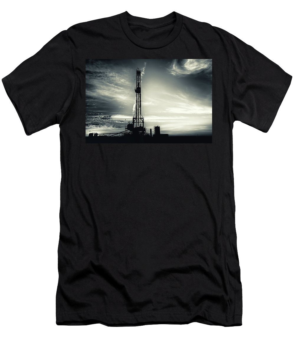 Drillers Club Men's T-Shirt (Athletic Fit) featuring the photograph 2018_08_malaga Nm_cactus 153 2 by Brian Farmer