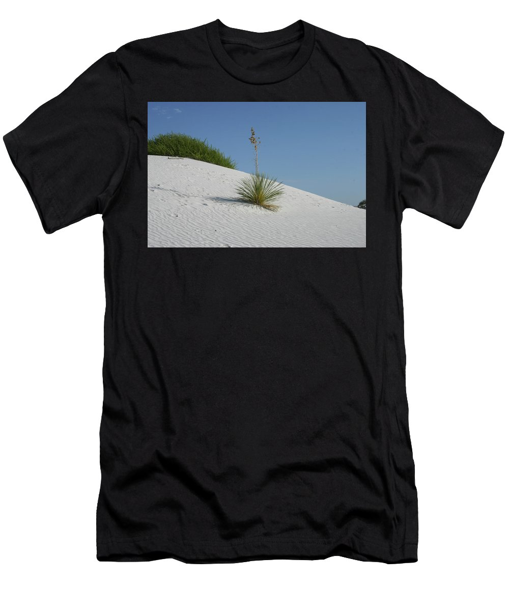 White Sands Men's T-Shirt (Athletic Fit) featuring the photograph White Sands National Monument by Michael Munster