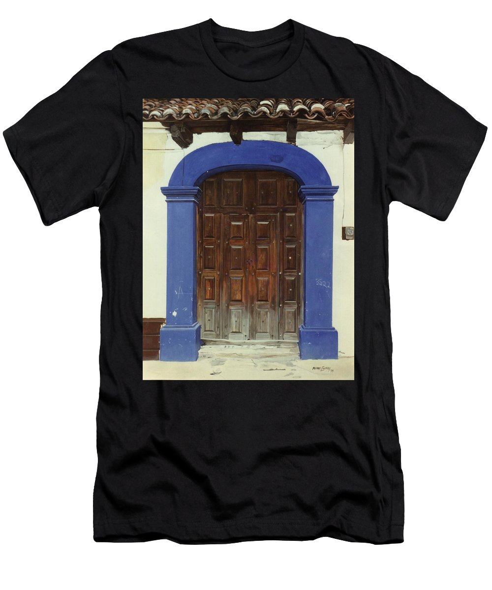 Hyperrealism Men's T-Shirt (Athletic Fit) featuring the painting 2222 by Michael Earney