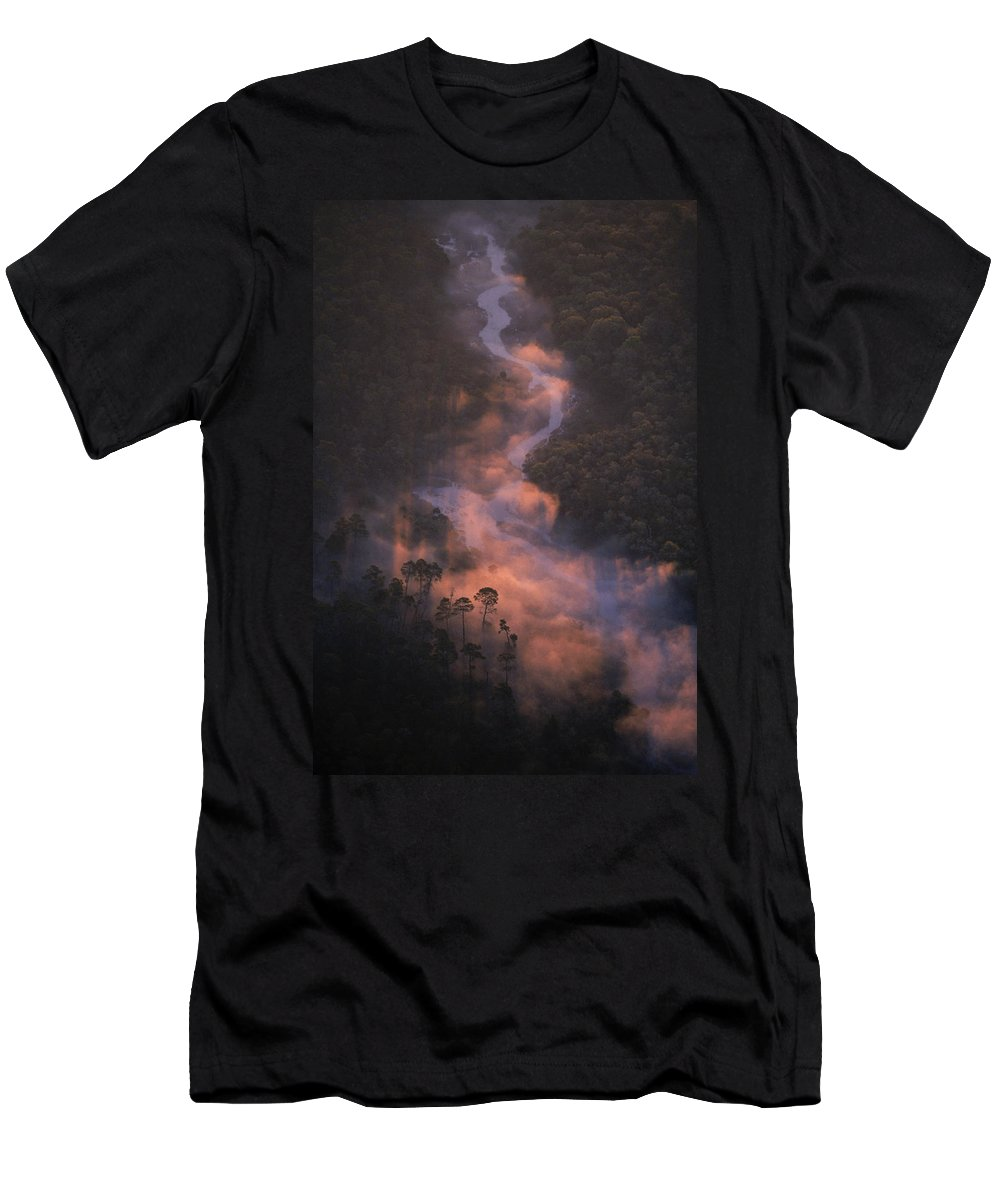 Aerial View Men's T-Shirt (Athletic Fit) featuring the photograph 2237303004 by Peter Essick