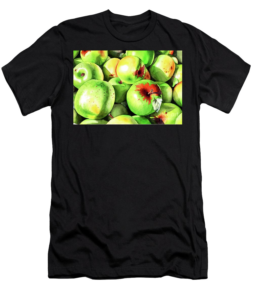 Apple Men's T-Shirt (Athletic Fit) featuring the painting #227 Green Apples by William Lum