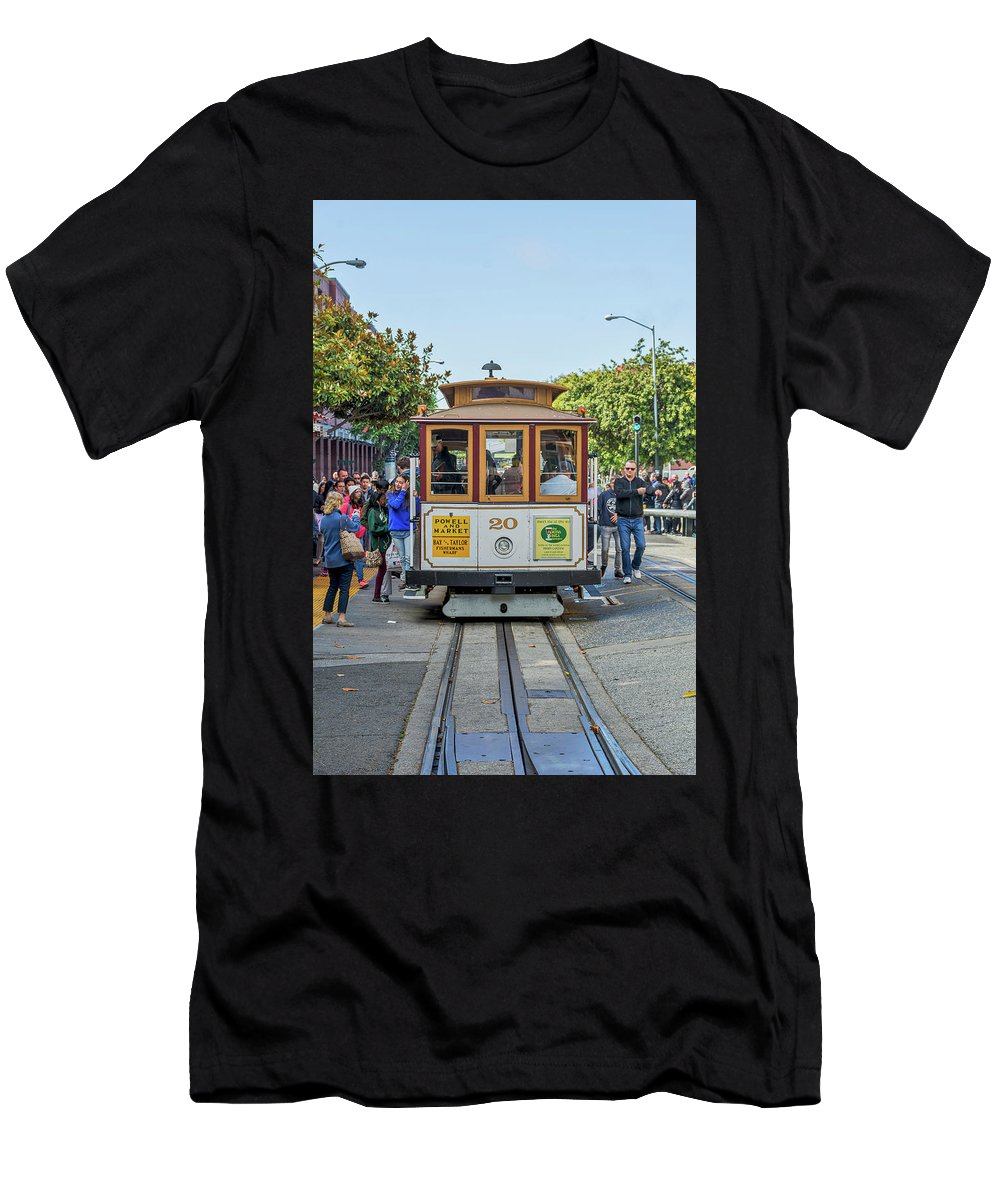 California Men's T-Shirt (Athletic Fit) featuring the photograph 2416- Cable Car by David Lange