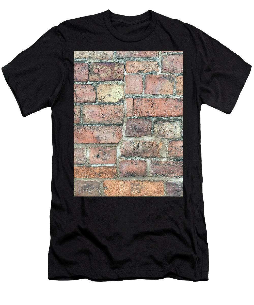 Aging Men's T-Shirt (Athletic Fit) featuring the photograph Brick Wall by Tom Gowanlock