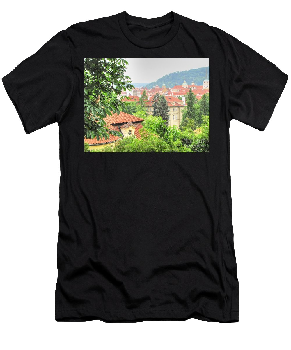 City Men's T-Shirt (Athletic Fit) featuring the photograph Praha by Yury Bashkin