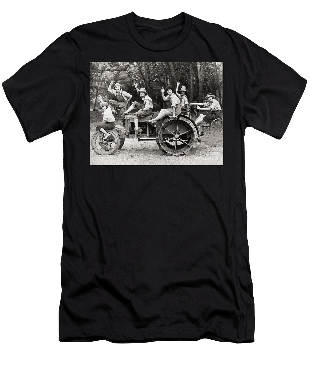 -transportation: Automobiles- Men's T-Shirt (Athletic Fit) featuring the photograph Silent Film: Automobiles by Granger