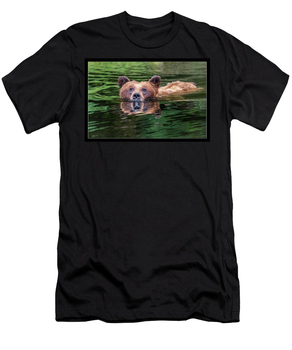 Grizzly Men's T-Shirt (Athletic Fit) featuring the photograph 26 by J and j Imagery