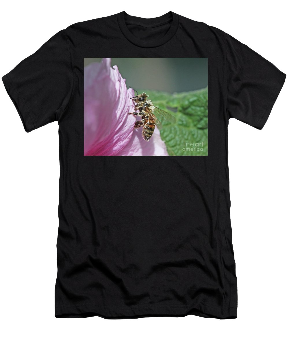 Honeybee Men's T-Shirt (Athletic Fit) featuring the photograph Honeybee by Gary Wing