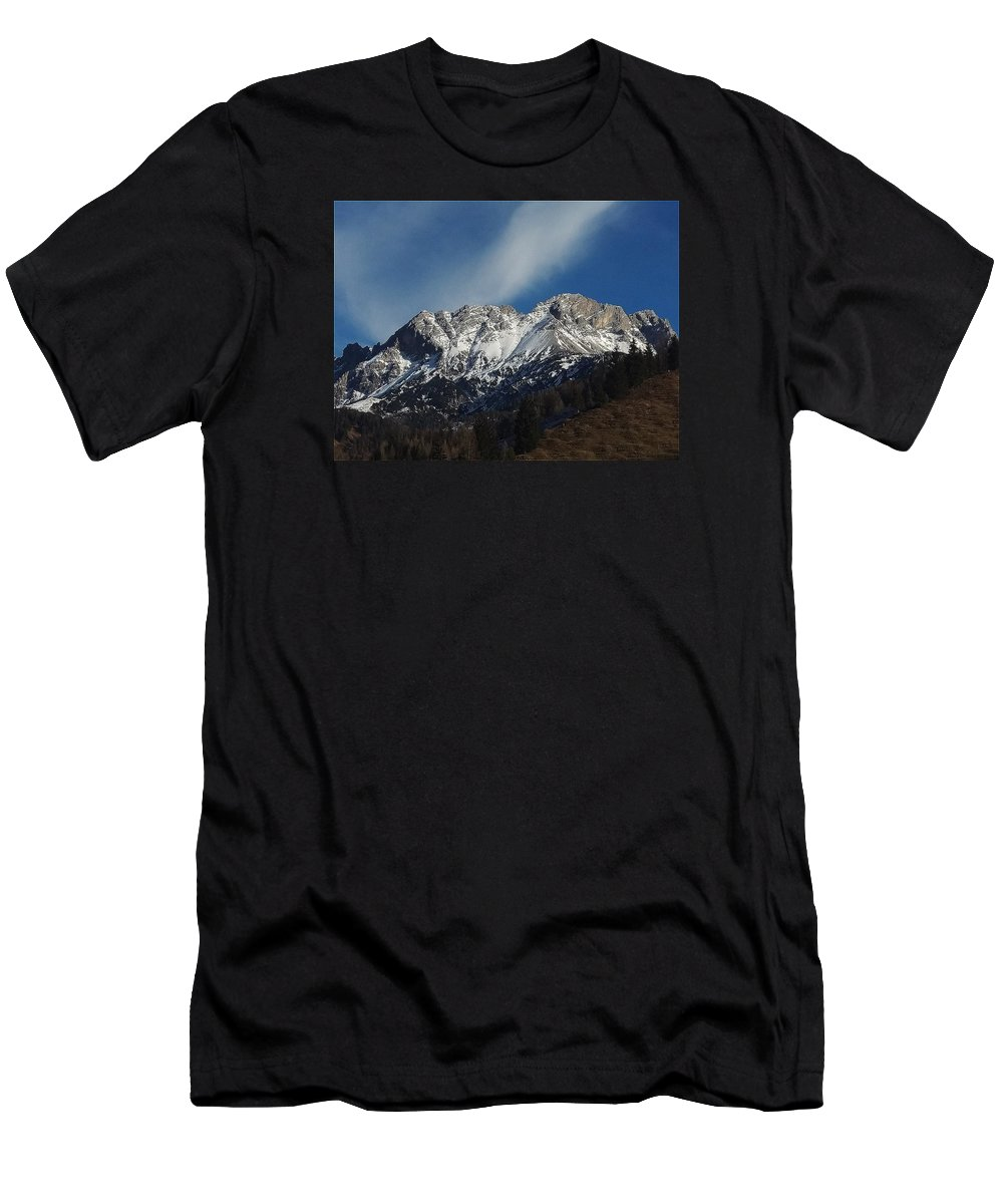 Mountain Men's T-Shirt (Athletic Fit) featuring the photograph Mountain by FL collection
