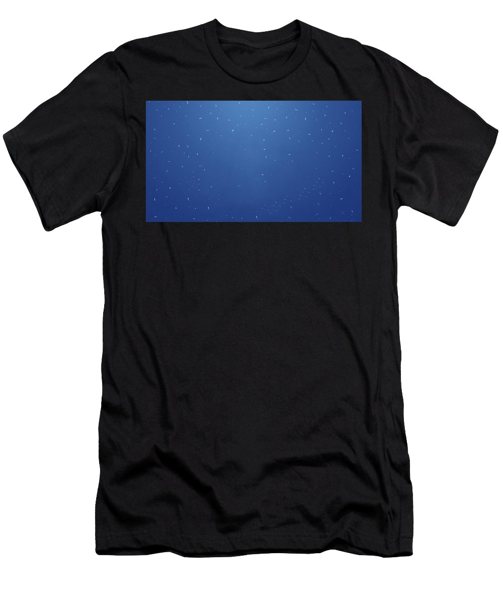 Simple Blue Simple Blue Men's T-Shirt (Athletic Fit) featuring the digital art 28103 Simple Blue Simple Blue by Mery Moon