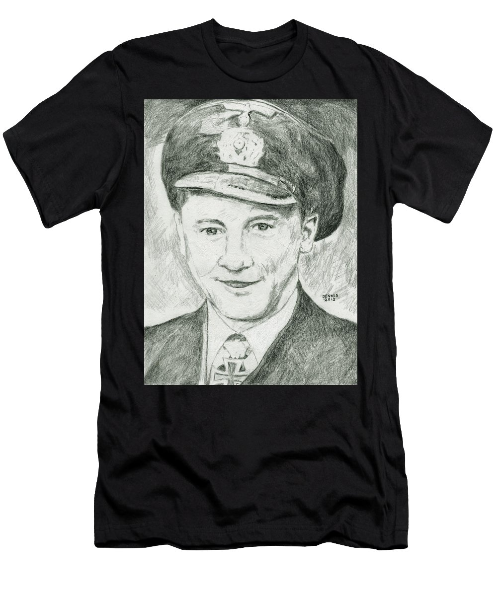 Adalbert Schnee Men's T-Shirt (Athletic Fit) featuring the drawing Adalbert Schnee by Dennis Larson