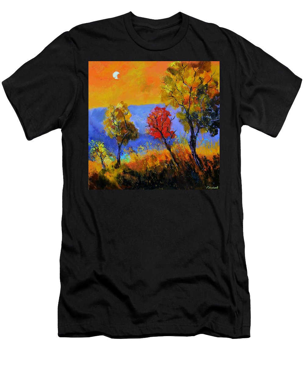 Landscape T-Shirt featuring the painting Autumn Colors by Pol Ledent