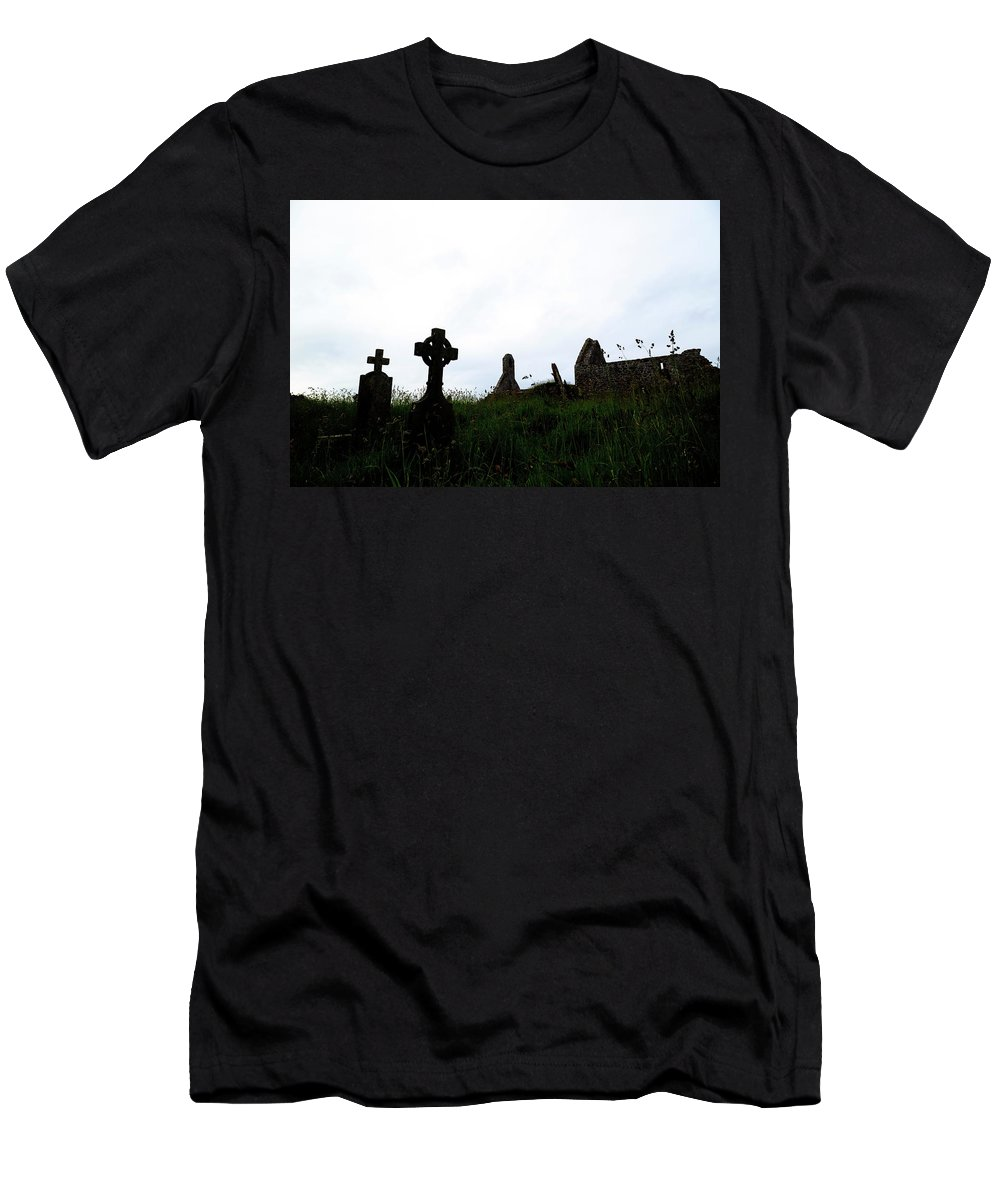 Ballingskelligs Abbey Men's T-Shirt (Athletic Fit) featuring the photograph Ballingskelligs - Ireland by Joana Kruse