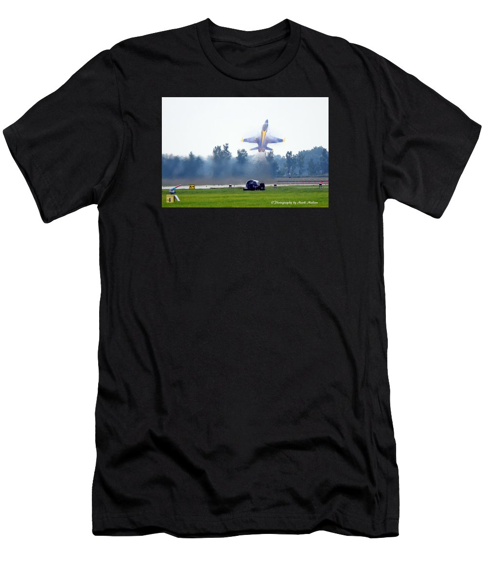 Blue Angel Men's T-Shirt (Athletic Fit) featuring the photograph Blue Angels by Mark Madion