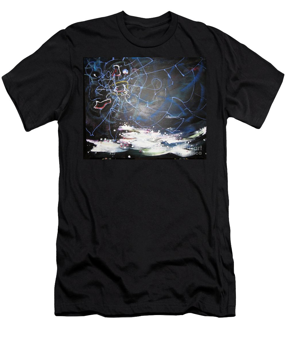 Abstract Paintings Men's T-Shirt (Athletic Fit) featuring the painting Buckwheat Field by Seon-Jeong Kim
