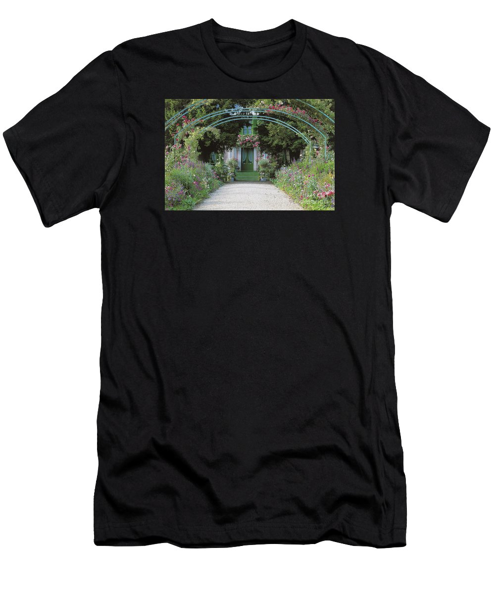 Giverny Men's T-Shirt (Athletic Fit) featuring the photograph Claude Monet's Garden At Giverny by French School