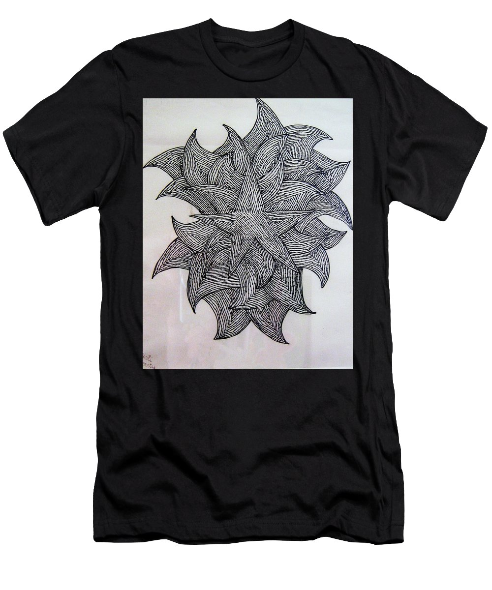 Sketch Men's T-Shirt (Athletic Fit) featuring the drawing 3 D Sketch by Barbara Yearty