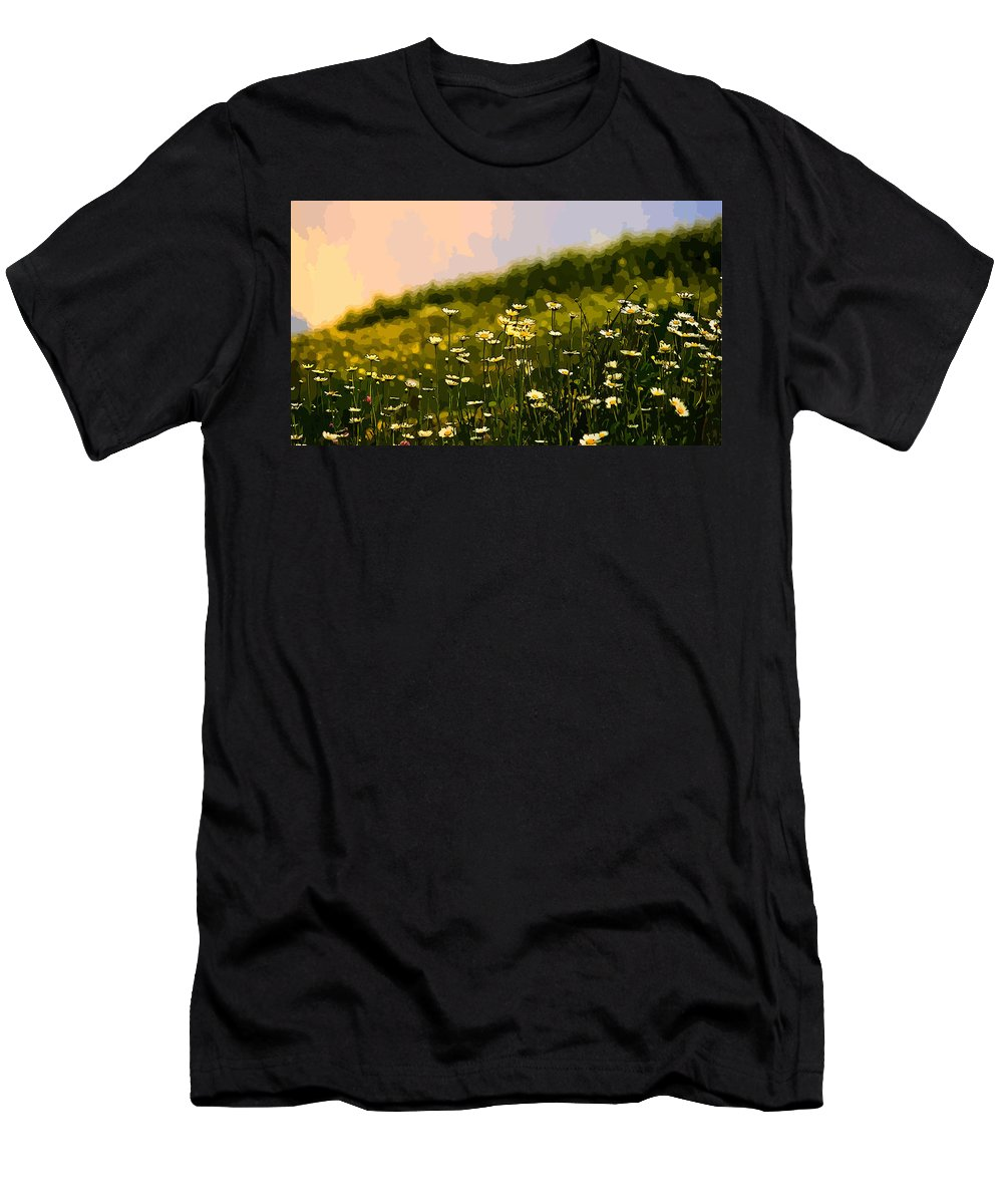 Daisy Men's T-Shirt (Athletic Fit) featuring the digital art Daisy by Lora Battle