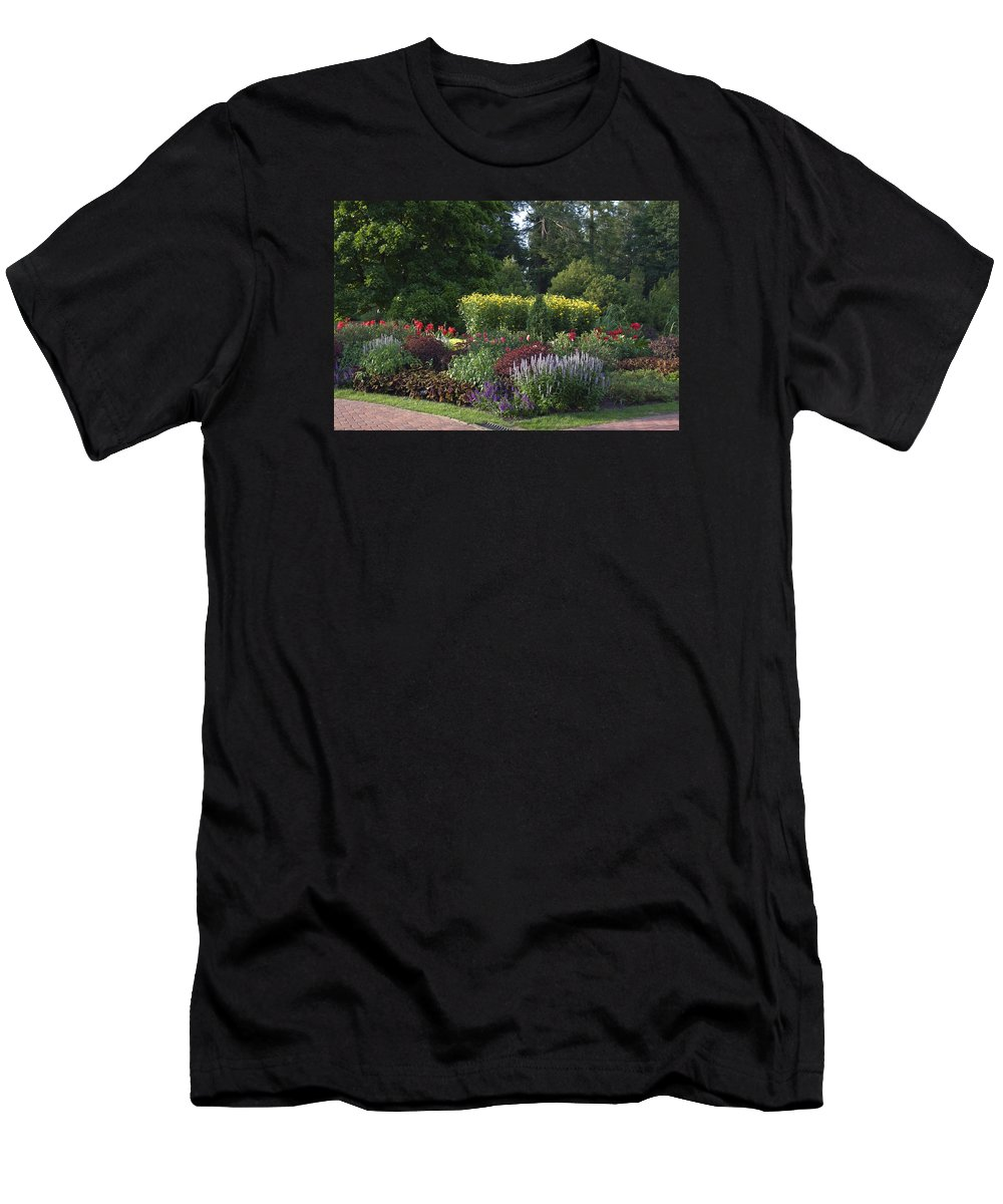Garden Scene Men's T-Shirt (Athletic Fit) featuring the photograph Garden Scene by Sally Weigand