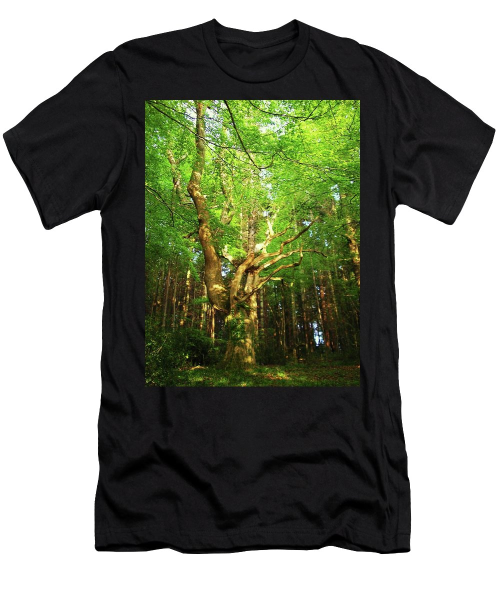 Landscape Men's T-Shirt (Athletic Fit) featuring the photograph Hazelwood Co Sligo Ireland by Louise Macarthur Art and Photography