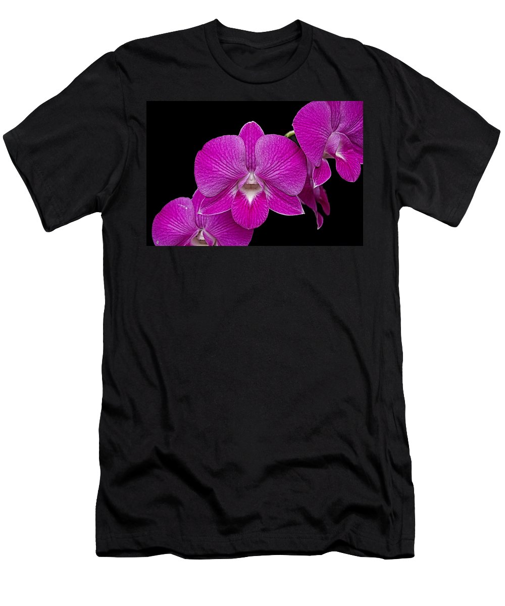 Orchid Men's T-Shirt (Athletic Fit) featuring the photograph Orchid by Galeria Trompiz