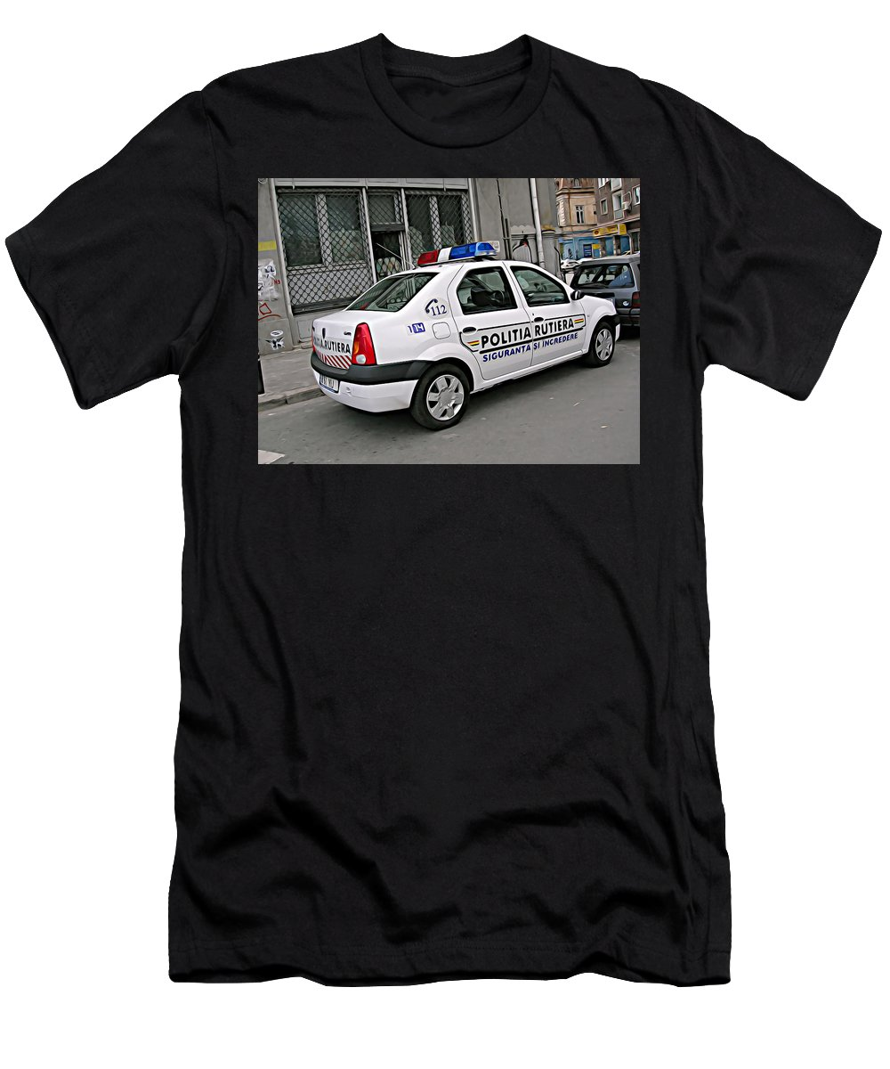 Police Men's T-Shirt (Athletic Fit) featuring the digital art Police by Lora Battle