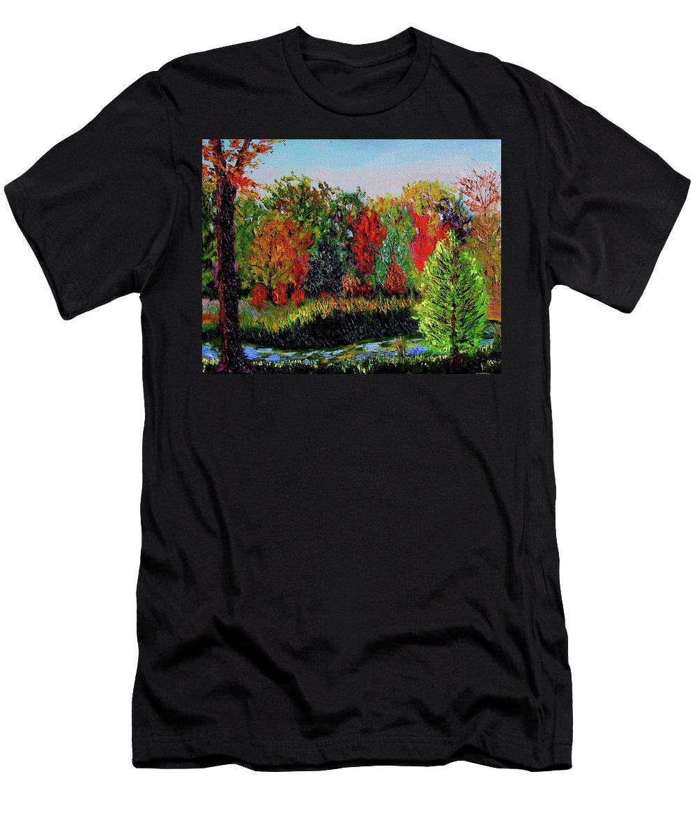 Plein Air Men's T-Shirt (Athletic Fit) featuring the painting Sewp 10 10 by Stan Hamilton