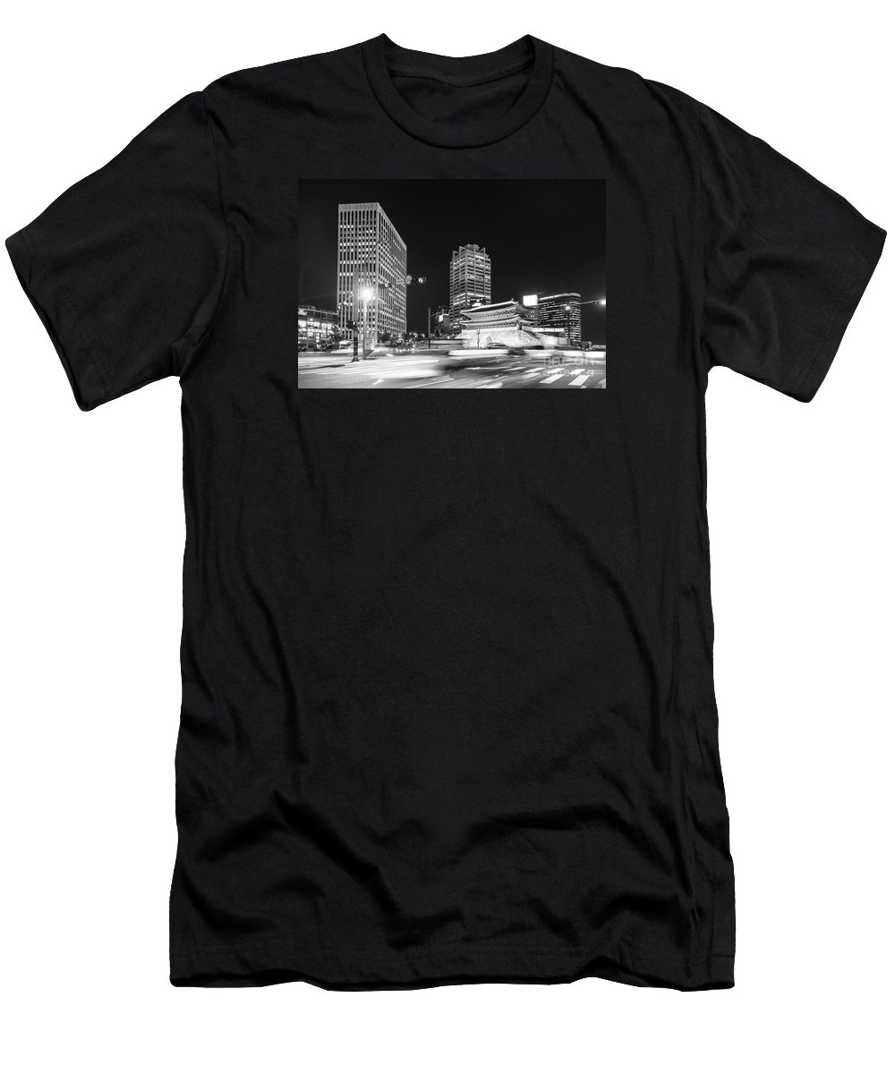 Ancient Men's T-Shirt (Athletic Fit) featuring the photograph Sungnyemun Gate In Seoul by Didier Marti