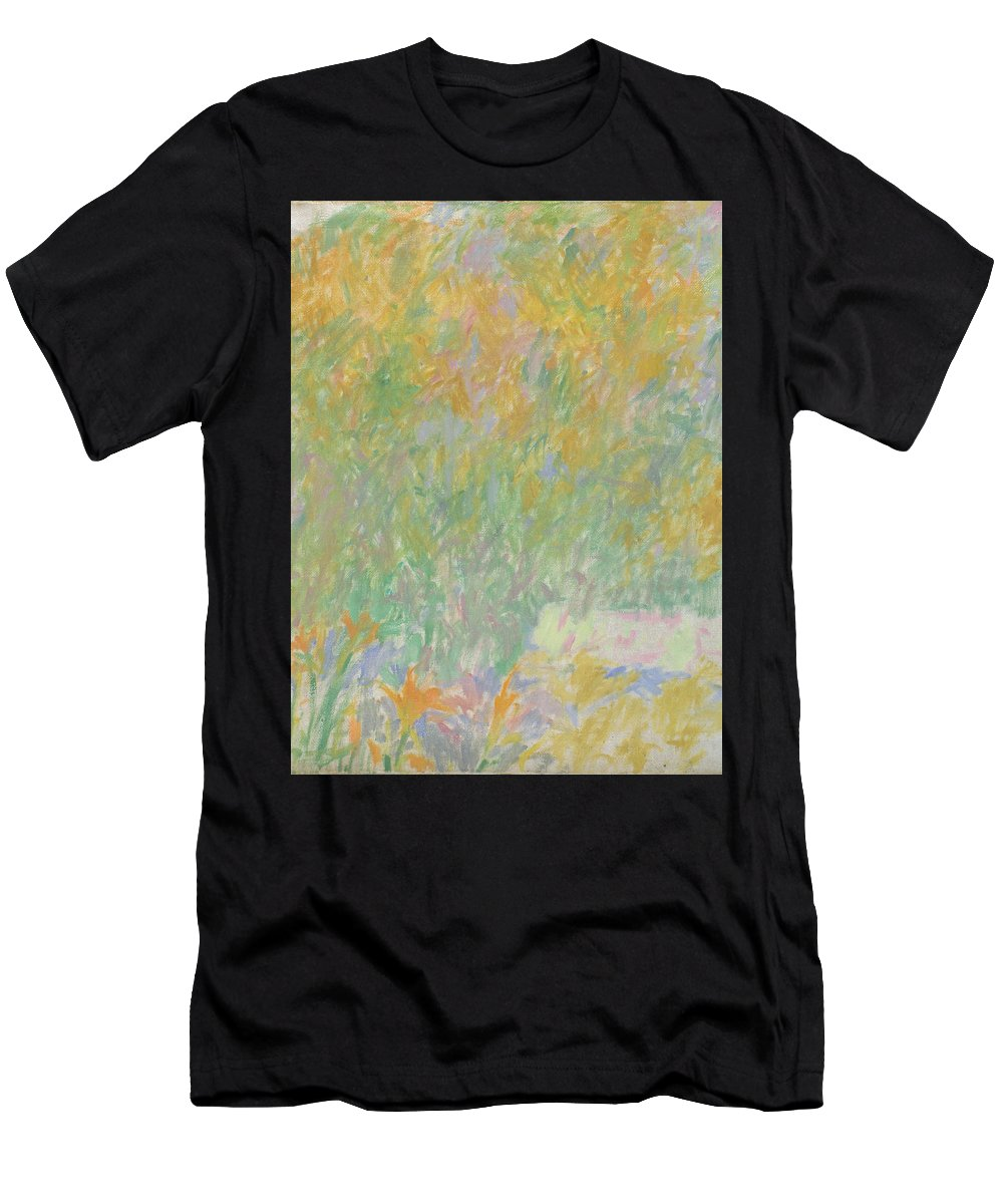 Park Men's T-Shirt (Athletic Fit) featuring the painting Garden by Robert Nizamov