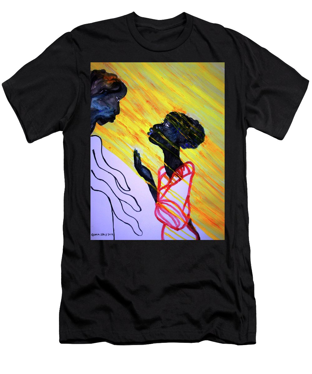 Jesus Men's T-Shirt (Athletic Fit) featuring the painting The Annunciation by Gloria Ssali