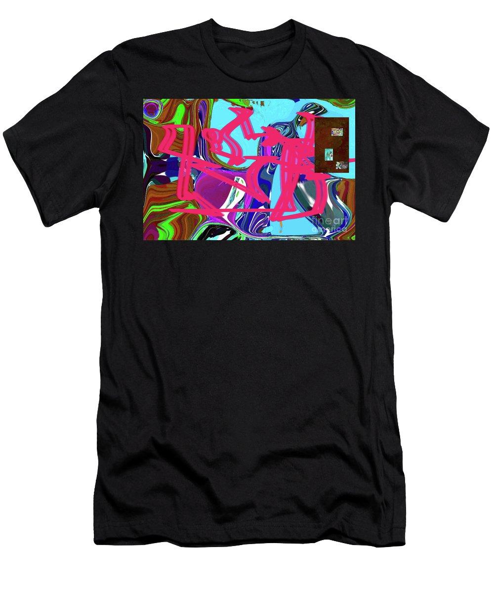 Walter Paul Bebirian Men's T-Shirt (Athletic Fit) featuring the digital art 4-19-2015babcdefghijklmnopqrt by Walter Paul Bebirian