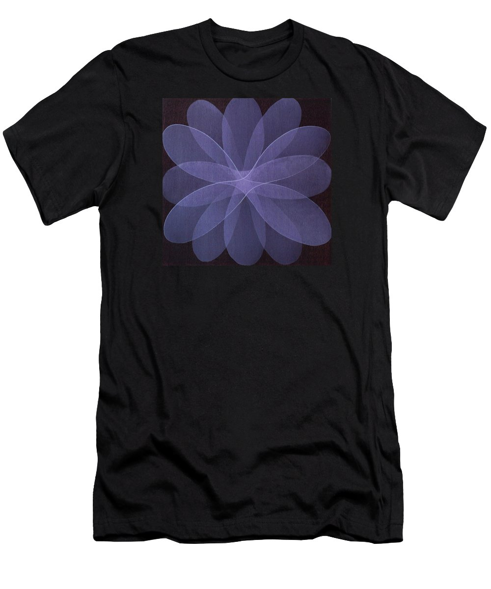 Abstract T-Shirt featuring the painting Abstract flower by Jitka Anlaufova