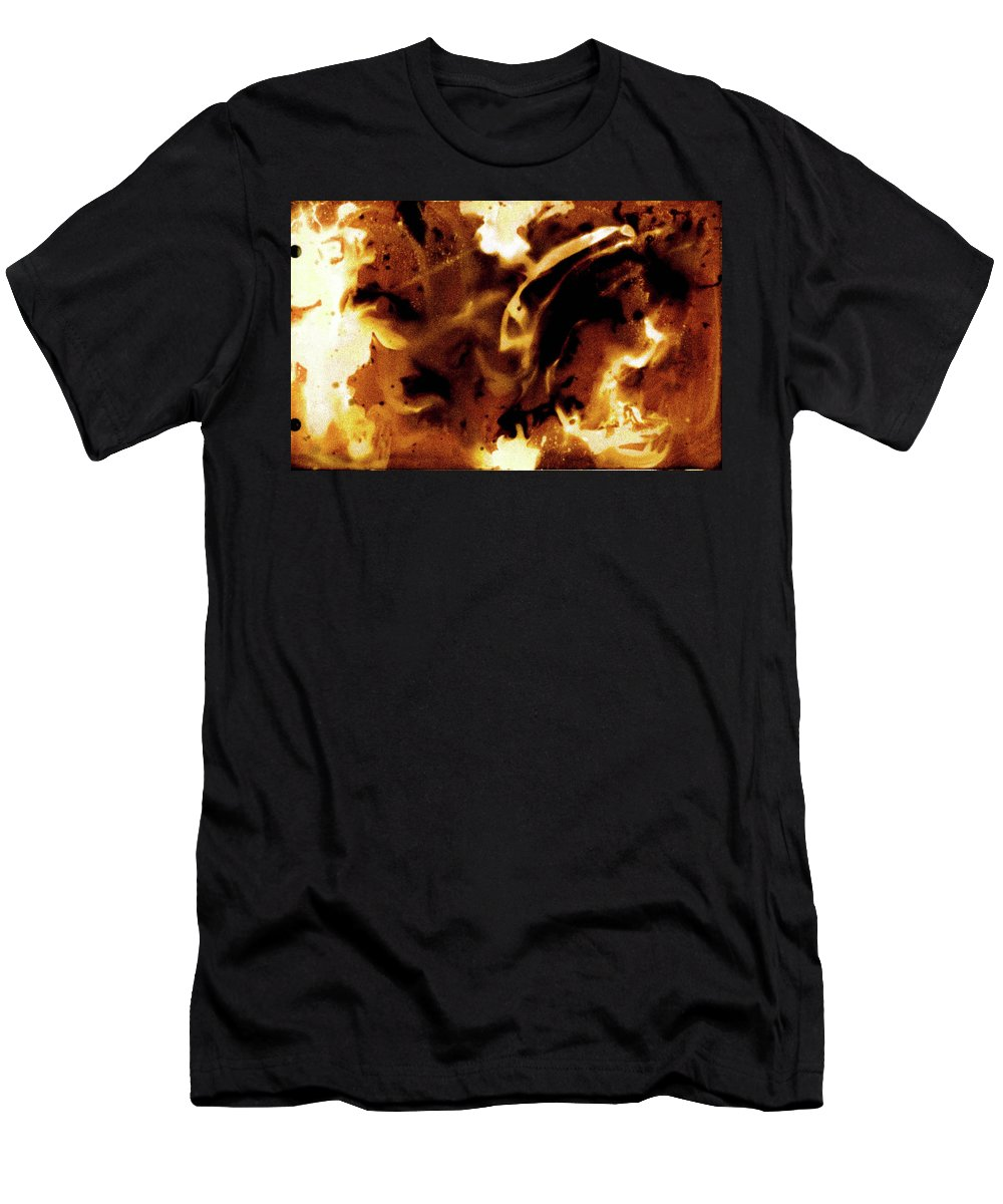 Photography Men's T-Shirt (Athletic Fit) featuring the photograph Chemical Painting by Shannon Woodfield
