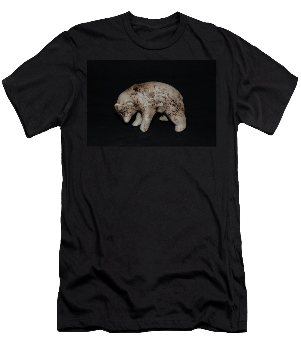 Four Corners Men's T-Shirt (Athletic Fit) featuring the photograph 4 Corners Bear by Rob Hans