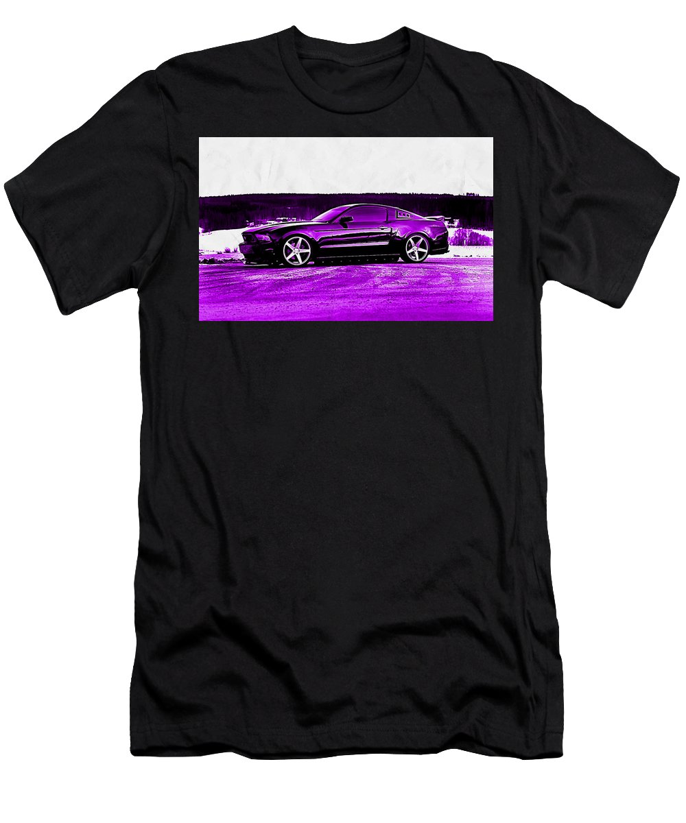 Ford Mustang Men's T-Shirt (Athletic Fit) featuring the digital art Ford Mustang by Lora Battle