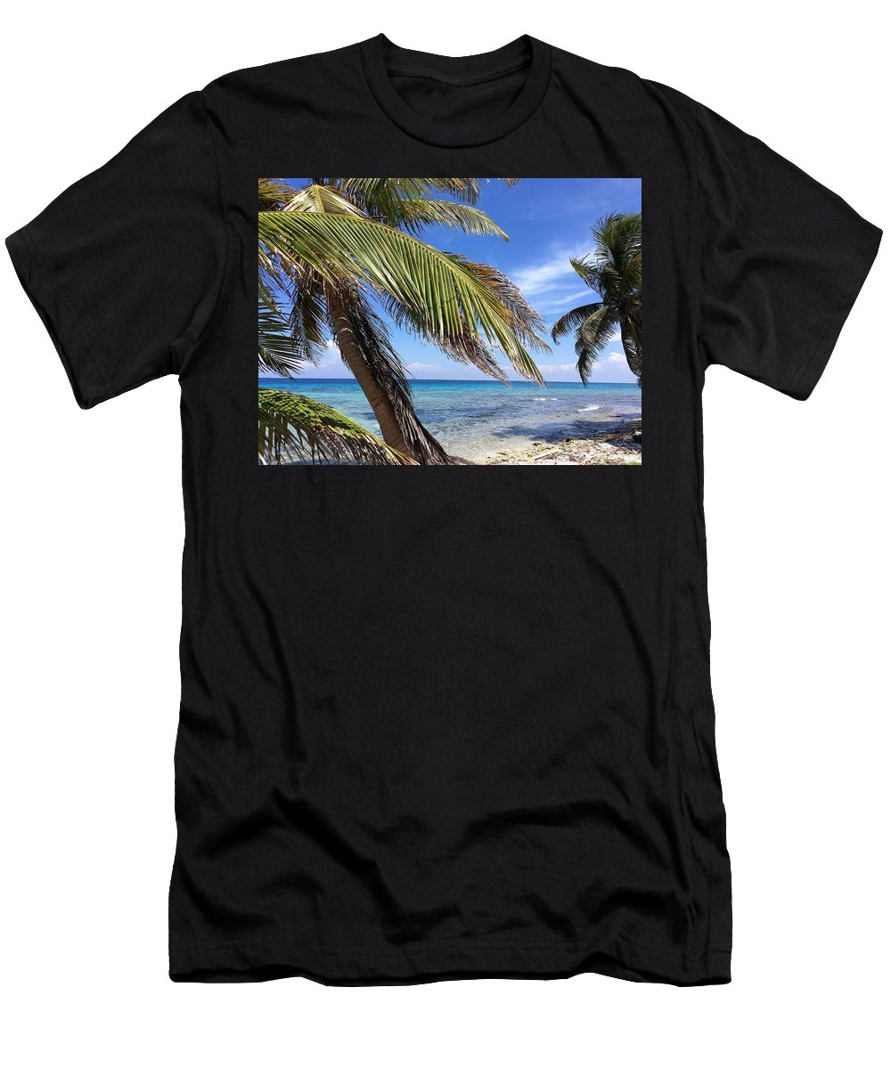 Beach Men's T-Shirt (Athletic Fit) featuring the photograph Laughing Bird Caye by Julia Breheny