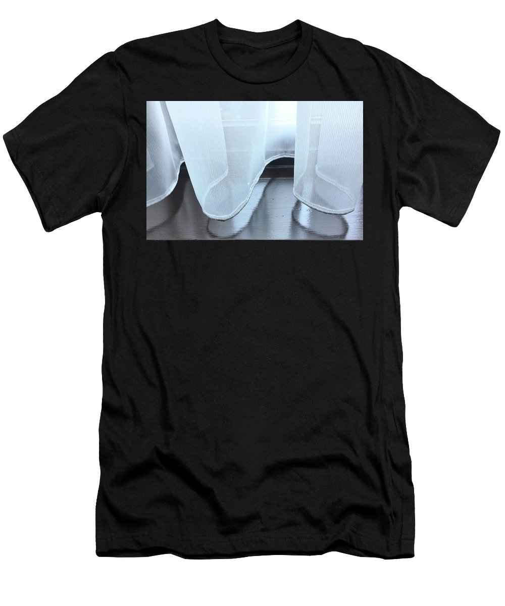 Abstract Men's T-Shirt (Athletic Fit) featuring the photograph Net Curtain by Tom Gowanlock