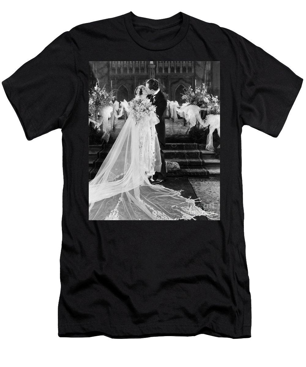 -weddings & Gowns- T-Shirt featuring the photograph Silent Film Still: Wedding by Granger