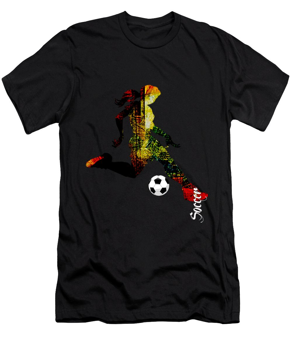 Soccer Men's T-Shirt (Athletic Fit) featuring the mixed media Soccer Collection by Marvin Blaine