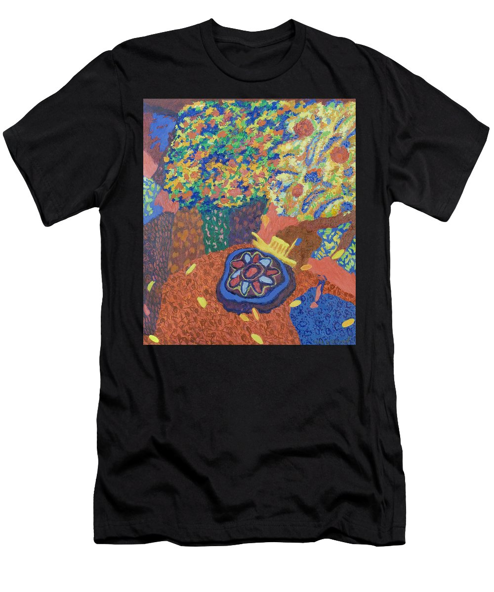Ship Men's T-Shirt (Athletic Fit) featuring the painting Still Life by Robert Nizamov