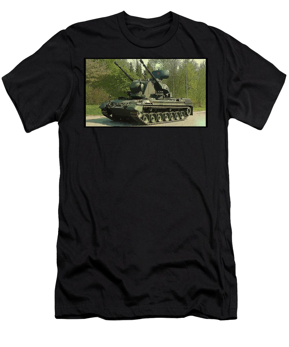 Tank Men's T-Shirt (Athletic Fit) featuring the digital art Tank by Lora Battle
