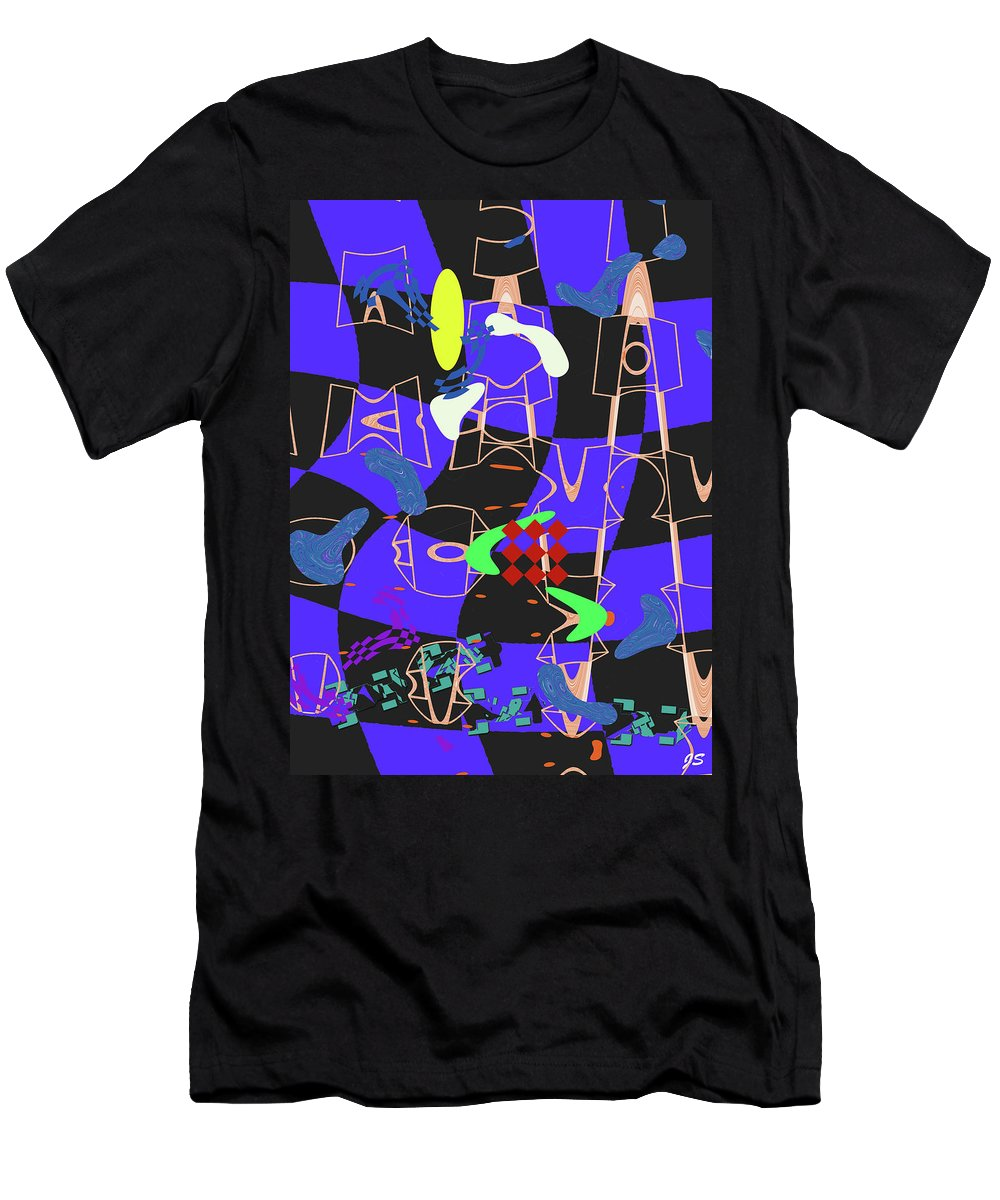 Abstract Men's T-Shirt (Athletic Fit) featuring the digital art 4 U 351 by John Saunders