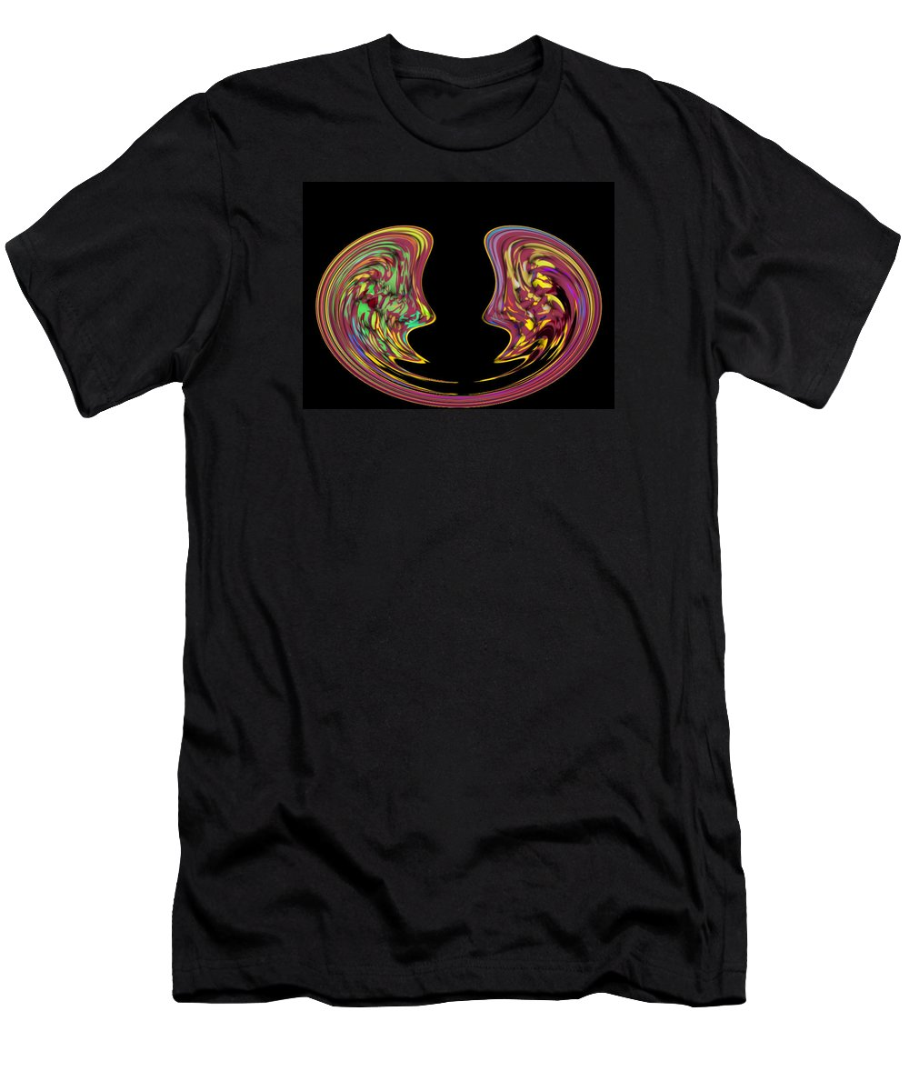 Abstract Men's T-Shirt (Athletic Fit) featuring the digital art 4 U 52 by John Saunders