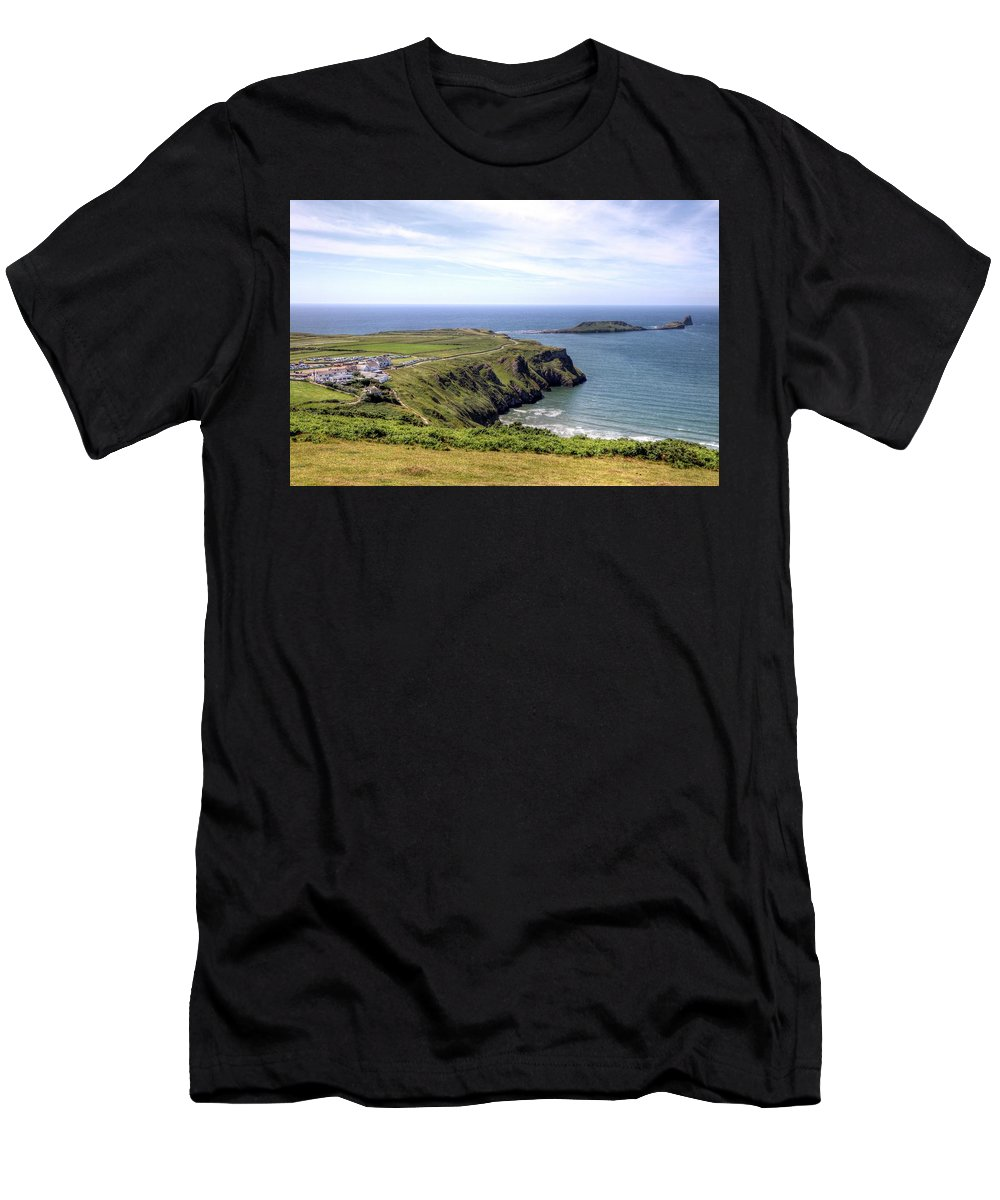 Wales Uk Men's T-Shirt (Athletic Fit) featuring the photograph Wales Uk by Paul James Bannerman