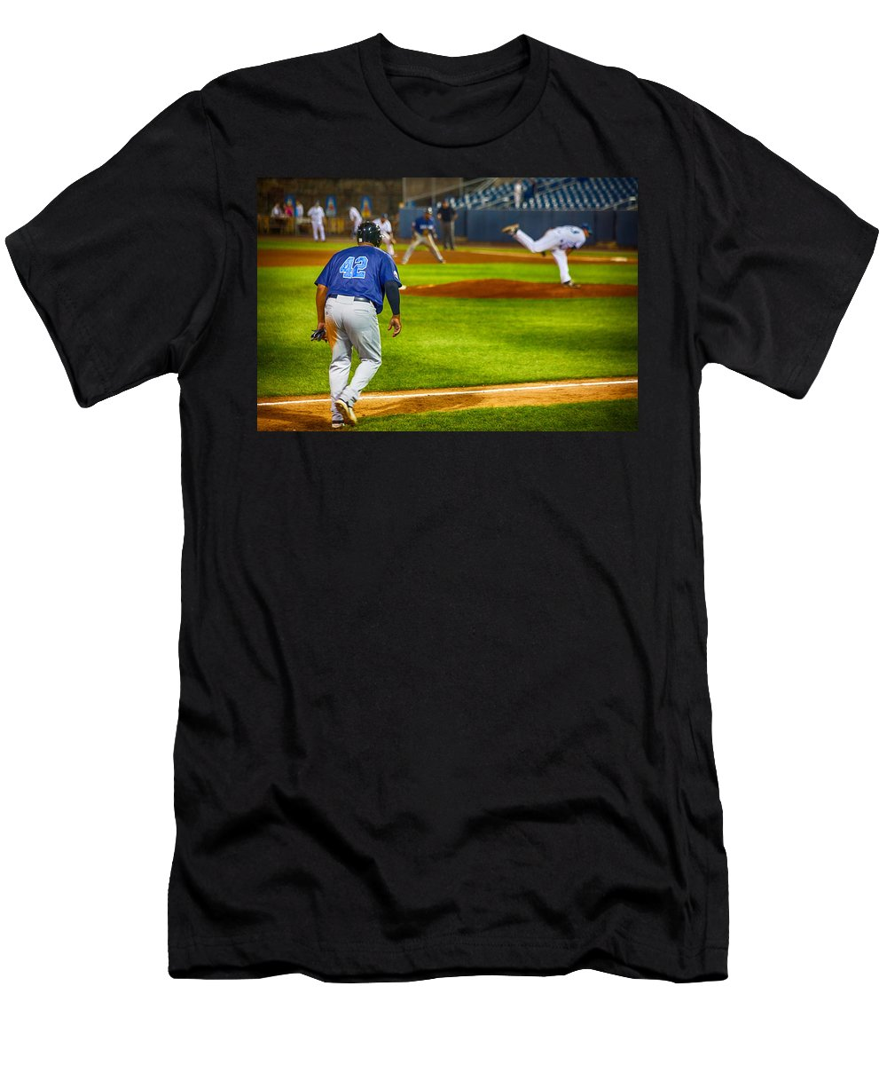 42 Coming Home Men's T-Shirt (Athletic Fit) featuring the photograph 42 Coming Home by Karol Livote