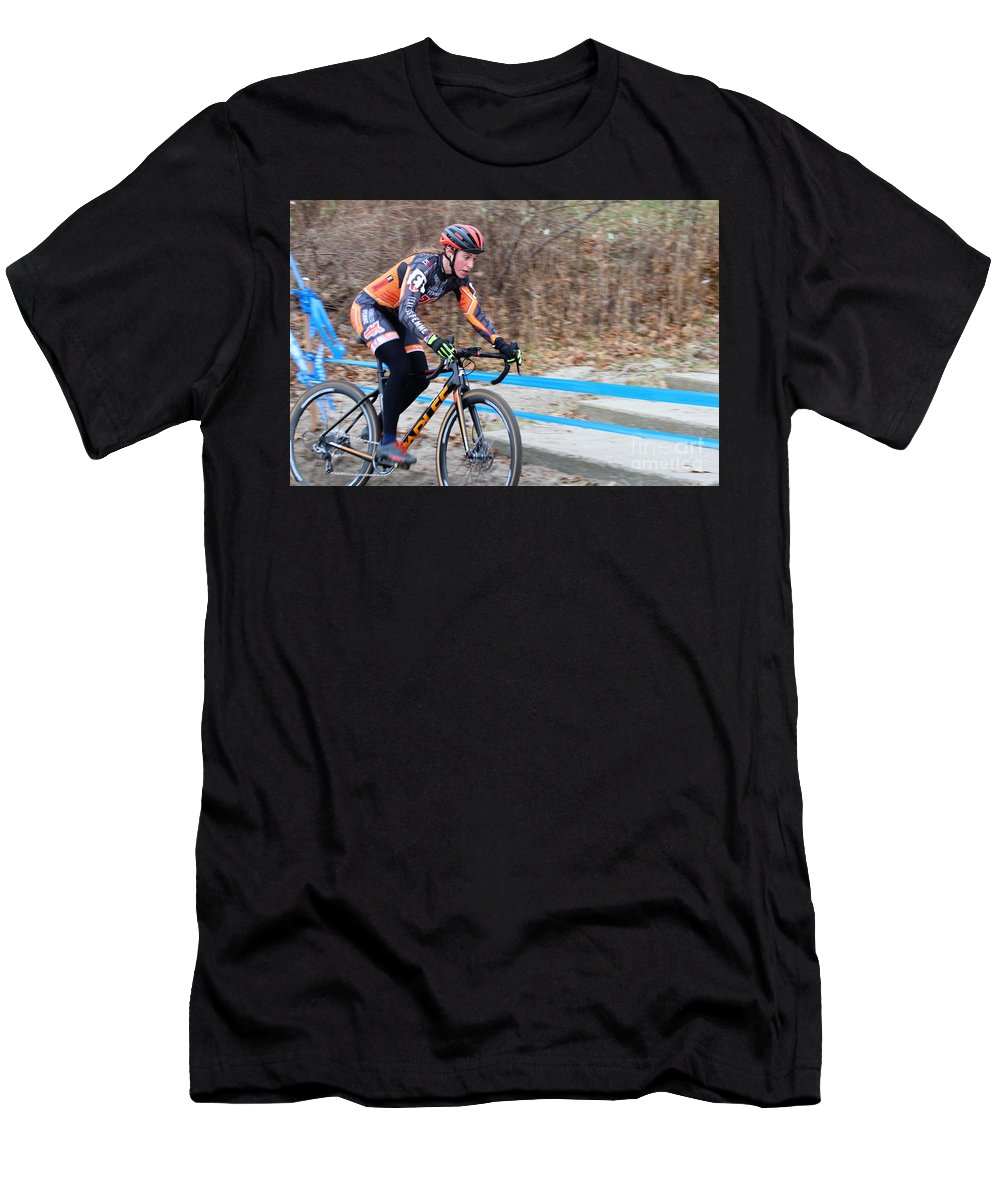 Fearless Femme Racing Men's T-Shirt (Athletic Fit) featuring the photograph Fearless Femme Racing by Donn Ingemie