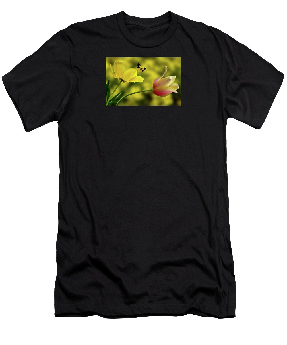 Flower Men's T-Shirt (Athletic Fit) featuring the photograph 4219 by Peter Holme III