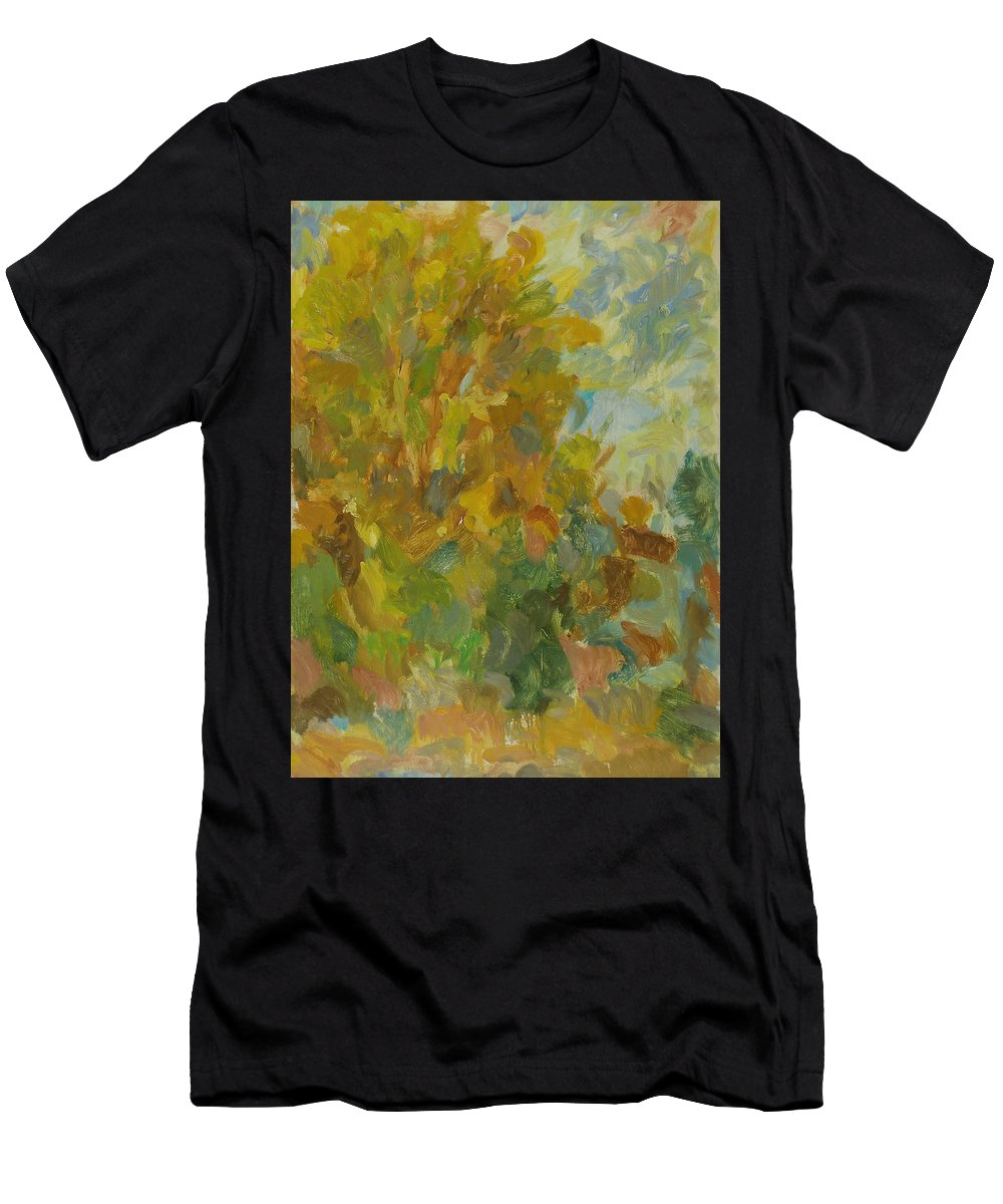 Street Men's T-Shirt (Athletic Fit) featuring the painting Tree by Robert Nizamov